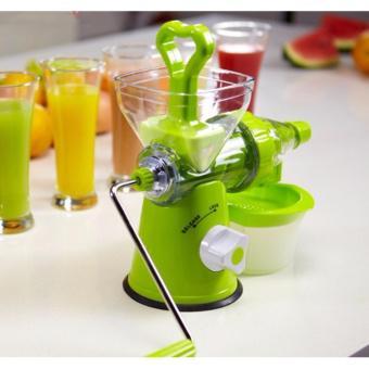 Máy xay ép hoa quả trái cây bằng tay ( Xanh )