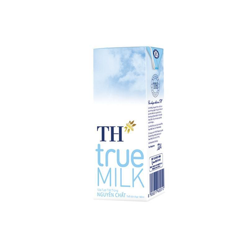 Sữa tươi tiệt trùng TH không đường 48x180ml