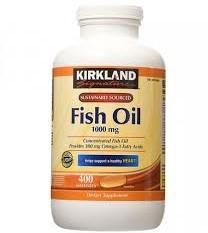 Dầu cá Kirkland Signature 1000 mg 400 viên của Mỹ