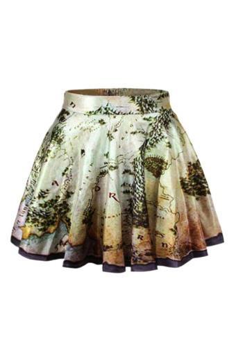 Bluelans Beauty Women's High Waist Pleated Short Mini Skirt Flared Dress (Intl)