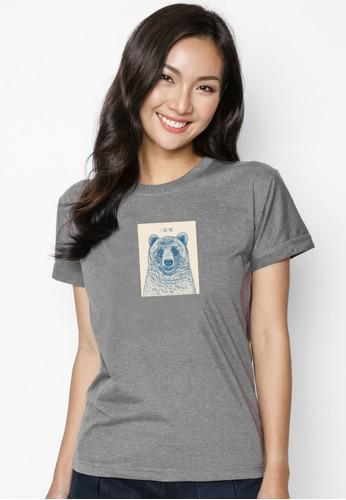 Áo Thun  In Hình Bear-Ivory