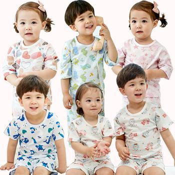 [Nhiều lựa chọn] Bộ đồ T-shirt + quần in họa tiết đáng yêu dành cho bé - 1696376