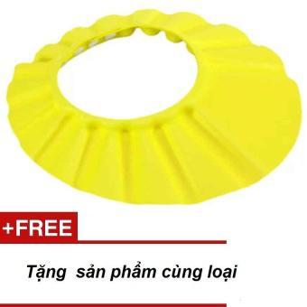 Mũ gội đầu, tắm an toàn cho bé chỉnh 4 cỡ (Vàng)