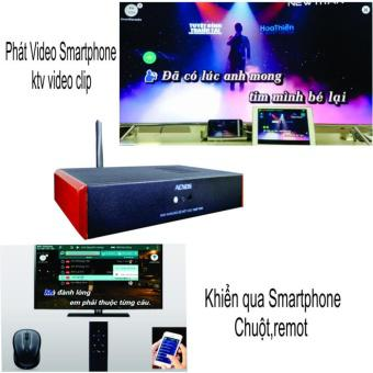 Đầu karaoke wifi Online & Offline HDD 2 TB Android Acnos KM4