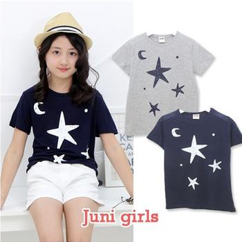 T shirt bé gái ngắn tay in ngôi sao JUNIGIRLS