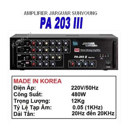 Amply Jarguar Suhyoung PA.203III - KOMI