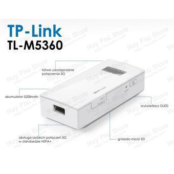 Bộ phát wifi từ sim 3G TP-Link M5360 (Trắng)