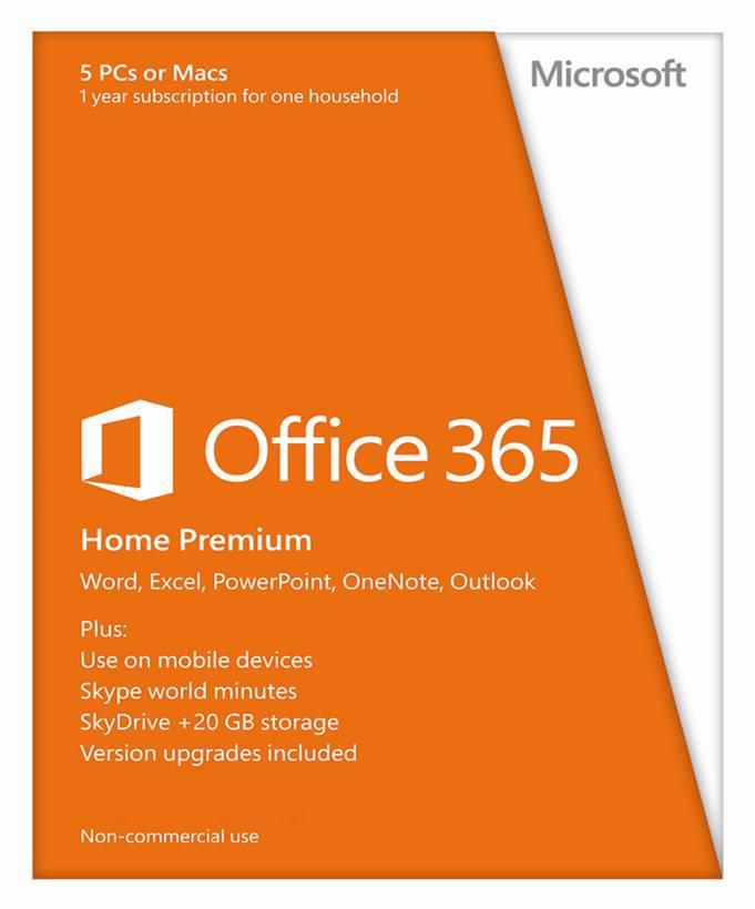 Phần mềm Office 365 Home Premiun 32BIT/64 EN SUBSCR APAC (5user\bản quyền 1 năm)