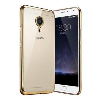 Ốp Lưng silicon viền vàng cho Meizu M3S (Vàng)