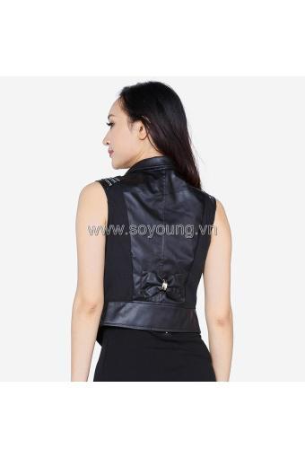 Áo Khoác Da Gile Cổ Vest Khuy Cài Nơ Lưng WM JACKET 017CC B