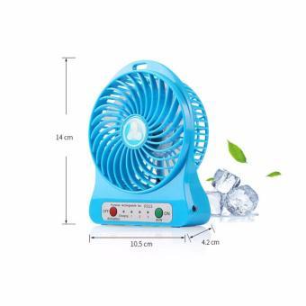 Bộ 2 quạt sạc tích điện mini fan 3 tốc độ