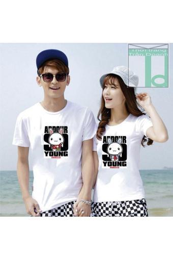 Áo cặp in hình cặp đôi dễ thương Trần Doanh TCD-79
