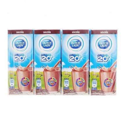 Sữa tươi tiệt trùng vị socola Active 20+ Dutch Lady 180ml