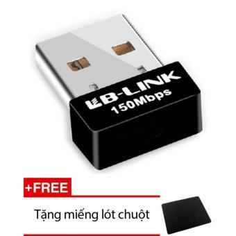 Usb thu wifi LB-LINK BL-WN151 Nano (Đen) + Tặng miếng lót chuột