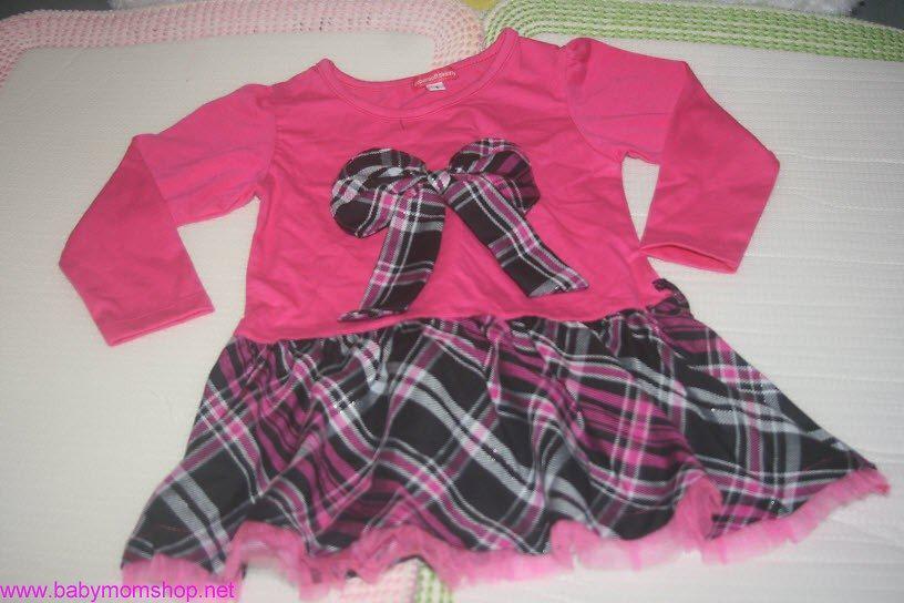 Đầm hồng váy sọc chéo burberry DDBG16