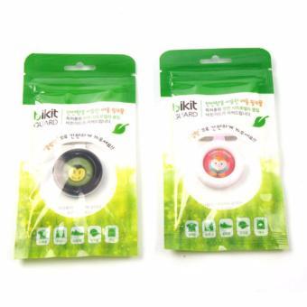 Bộ 3 kẹp chứa tinh dầu chống muỗi cho bé (Xanh lá nhạt)