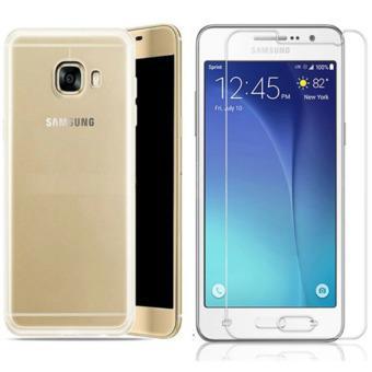 Bộ Ốp lưng Silicon cho Samsung J7 Prime (Trắng) + Kính cường lực 2.5D