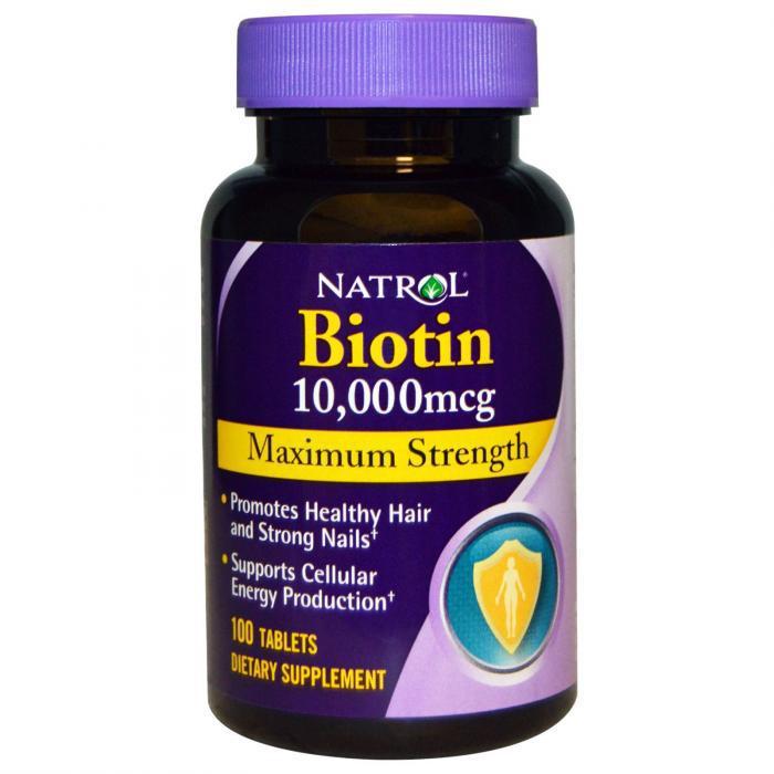 Natrol Biotin trị rụng tóc, móng chắc khoẻ của Mỹ (10.000 mcg)