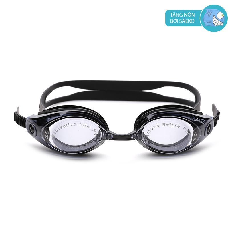 Kính bơi cận Saeko Optical S42AOP (Đen) - Tặng kèm nón bơi Saeko ngộ nghĩnh