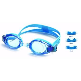 Kính bơi người lớn aquatic -có nút chặn tai-kẹp mũi