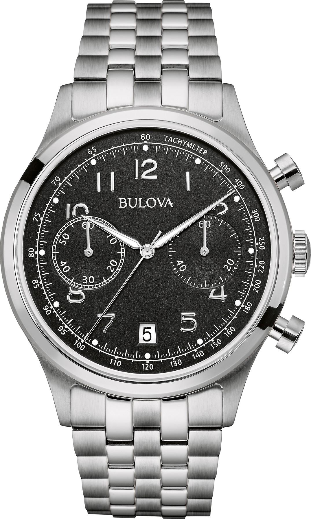 BULOVA MEN'S VINTAGE CHRONOGRAPH WATCH 43MM