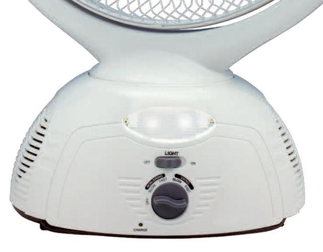 Quạt sạc điện Tiross có đèn LED