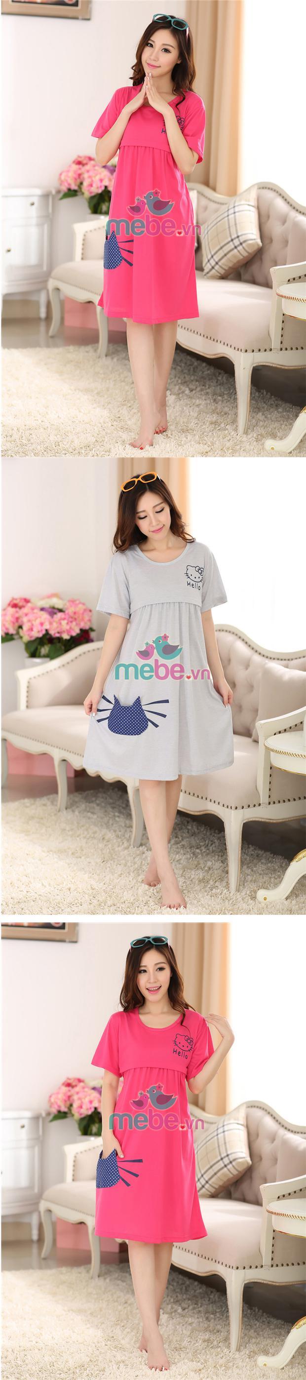 Váy bầu kết hợp cho con bú MB 922