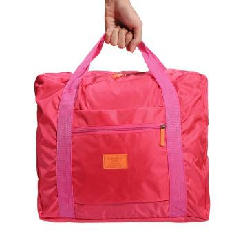 Big Travel Foldable Luggage Bag Clothes Storage Organizer Carry-On Duffle Bag Rose red Fashion - int...
