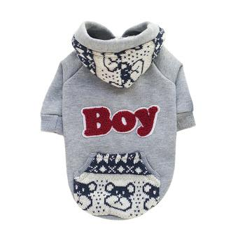 Fleece Hoodie Sweatershirt British Jacket Coat Small Dog Clothes Costume (Intl)