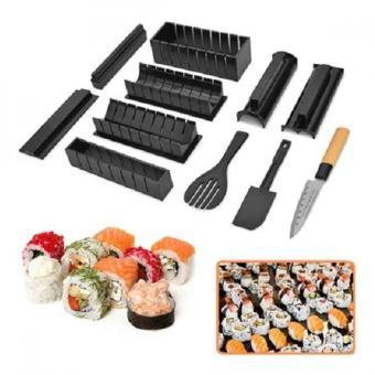Bộ dụng cụ làm sushi cao cấp 11 món kèm dao tiện lợi HBK-HB01 (Đen)