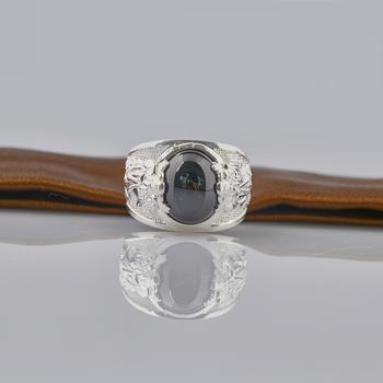 Nhẫn nam đính đá cao cấp Opal RM_06