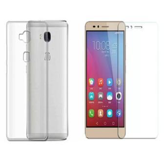 Bộ ốp lưng silicon NILLKIN dùng cho Huawei GR5 / Honor 5X (Trắng) + Kính cường lực 2.5D-Hàng nhập kh...