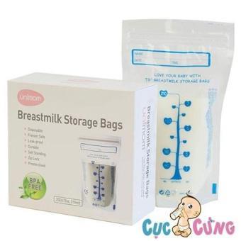 Túi trữ sữa Unimom không BPA (60 túi – 210ml) - 2 lớp - UM870183