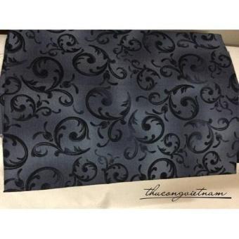 Vải thô hoa văn nền xám đen