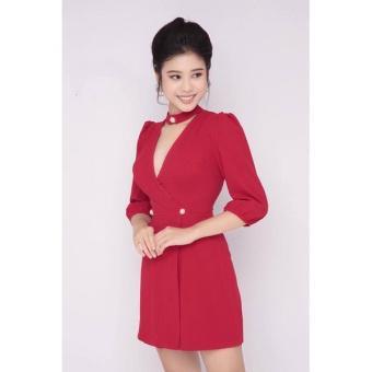 Đầm Chữ A Tay Lỡ Thiết Kế Dễ Thương - đỏ