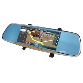 Camera hành trình gương + GPS dẫn đường Vietmap G68 (Xám)
