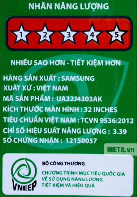 Smart Tivi LED Samsung 32inch Full HD – Model UA32J4303AKXXV (Đen)