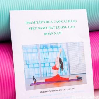 Thảm tập Yoga siêu bền loại dày 10mm TPE (Xanh )