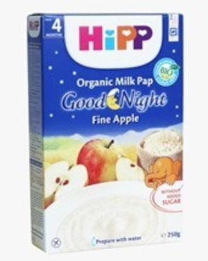 Bột ăn dặm DD sữa Chúc ngủ ngon Táo tây HiPP 250g