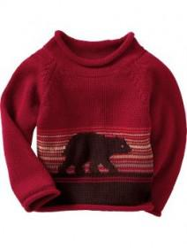 Intarsia bear sweater