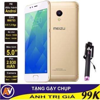 Meizu 5s 16GB Ram 3GB Kim Nhung (Vàng) - Hàng nhập khẩu + Gậy chụp ảnh