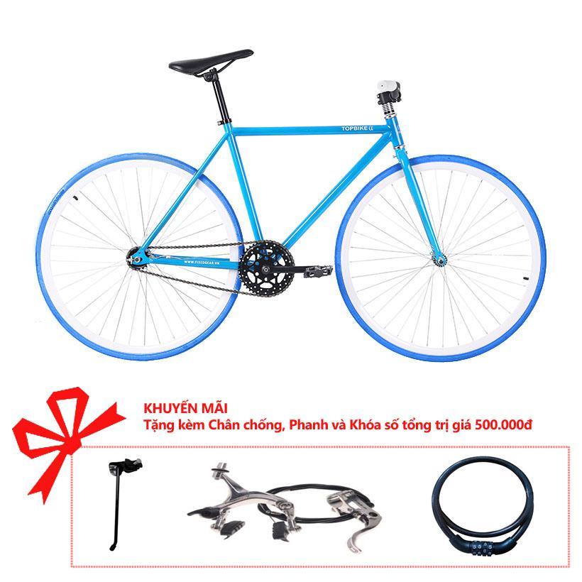 Xe đạp Topbike Alpha khung màu xanh mới bóng