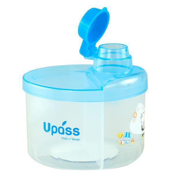 Hộp chia sữa tròn 4 ngăn không BPA màu xanh Upass UP8005CX
