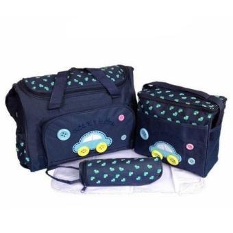 Bộ 3 túi xách cho mẹ và bé hình ôtô (Xanh)