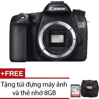 Canon EOS 70D 20.2MP Body WiFi + Tặng 1 túi đựng máy ảnh và 1 thẻ nhớ 8GB - Hãng phân phối chính thứ...