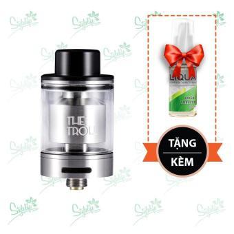 Buồng đốt Wotofo The Troll RTA (Silver) tặng 1 lọ tinh dầu New Liqua 10ml vị Thuốc lá nhẹ