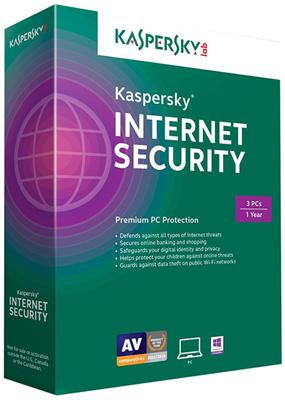 phần mềm diệt virus Kaspersky Internet Security 2016 (3User) 3PC - 1year
