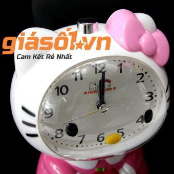 Đồng hồ báo thức để bàn Hello Kitty - SS19054 (Hồng Nhạt)