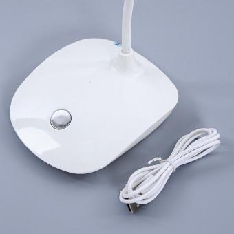 Đèn bàn led cảm ứng chống cận có lưu điện (Xanh)