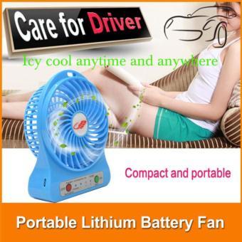 Quạt tích điện Mini USB Fan siêu mát ( xanh)